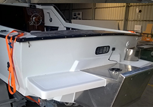 Custom Fibreglass Products - Rears to rear step on boat